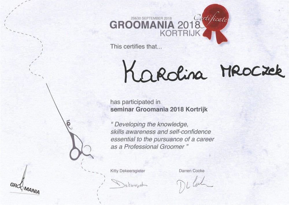 certyfikat groomera z warszawy